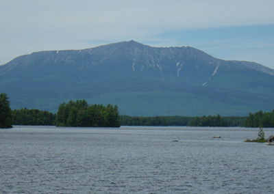 Fishing with a view of Mt. Katahdin