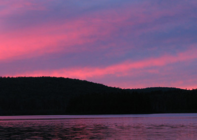 sunset on moosehead lake