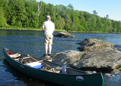 guided canoe fishing trips